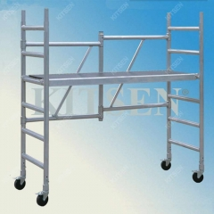 SGS Tested  Aluminum Folding Mobile Scaffolding